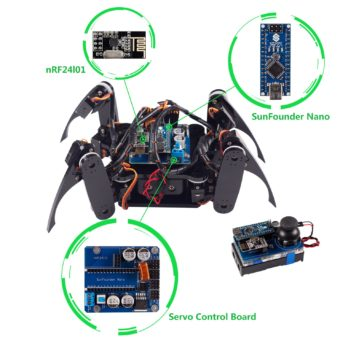 Have You Ever Seen an Electronic Crawling  Spider Quadruped in Action?
